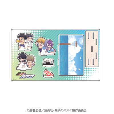 「『黒子のバスケ』POP UP SHOP in 東京キャラクターストリート」ミニキャラ新商品;プレミアムアクリルジオラマプレート(海常・陽泉)