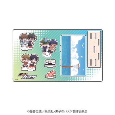 「『黒子のバスケ』POP UP SHOP in 東京キャラクターストリート」ミニキャラ新商品;プレミアムアクリルジオラマプレート(桐皇・秀徳)