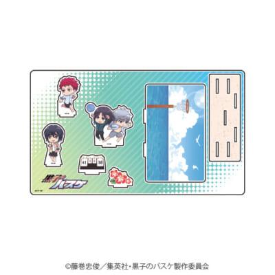 「『黒子のバスケ』POP UP SHOP in 東京キャラクターストリート」ミニキャラ新商品;プレミアムアクリルジオラマプレート(洛山・霧崎第一)