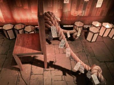 「アニメ 呪術廻戦展」虎杖が座っていた椅子アップ