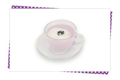 「家庭教師ヒットマンREBORN!」×SMILE BASE CAFE 孤高の浮雲 紫芋ラテ