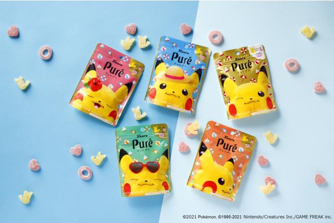 「ピカチュウ×ピュレグミ」新パッケージ、ピカチュウ型とうきわ型を組み合わせて夏気分!