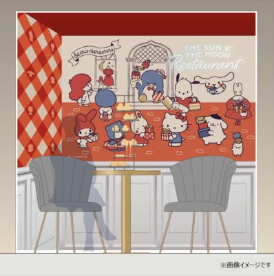 「サンリオ展×THE SUN & THE MOON」レストランフォトスポットイメージ