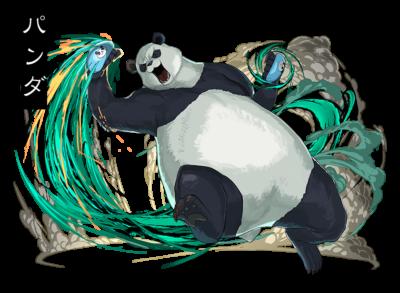 「呪術廻戦×パズル&ドラゴンズ」パンダ