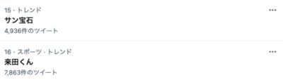 「アイドルマスターSideM」サン宝石Twitterトレンド入り
