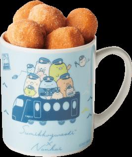 「すみっコぐらし×南海電車」マグカップ付きベビーアンドーナツ