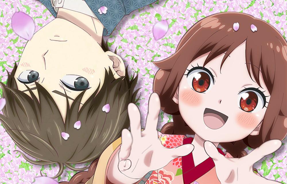 TVアニメ「大正オトメ御伽話」珠彦と夕月が桜舞う中で寝そべる姿にキュン!