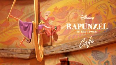 「塔の上のラプンツェル」OH MY CAFEカフェビジュアル