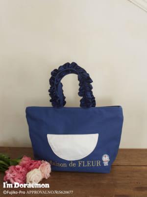 「Maison de FLEUR×アイムドラえもん」ドラえもんフリルハンドルトートバッグ
