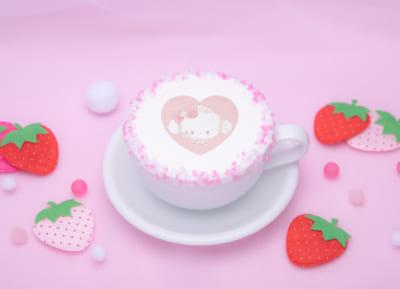 「こぎみゅん初恋カフェ」おまたせしました‥みゅん‥♡ほっこりあったか♡いちごカフェラテ
