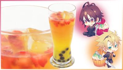 「AMNESIA」・「Collar×Malice」× アニメイトカフェ シン&トーマのタピオカアイスオレンジティー