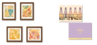 「塔の上のラプンツェル」OH MY CAFE グッズ:額縁マグネット(ランダム4種)、クリアファイル