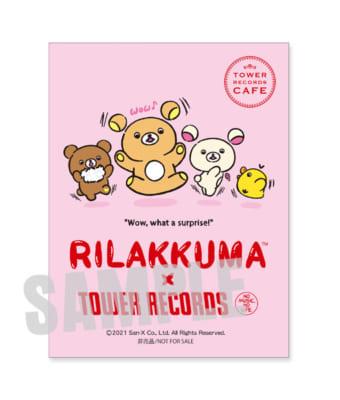 「Rilakkuma × TOWER RECORDSキャンペーン2021」3点セット注文特典:オリジナルステッカー