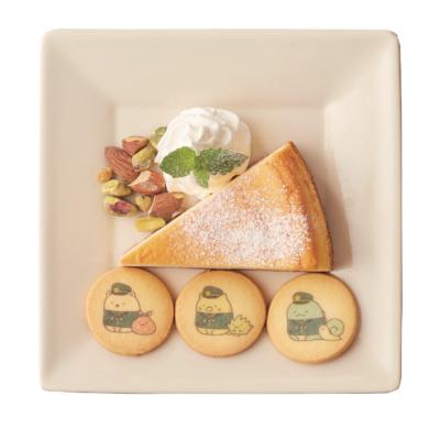 「すみっコぐらし×南海電車」#702 CAFE&DINER なんばパークス店 デザートプレート(すみっコぐらしのクッキー付き)