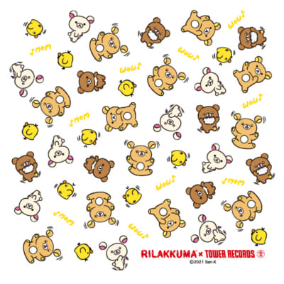 「Rilakkuma × TOWER RECORDSキャンペーン2021」コラボグッズ購入特典座布団(白)