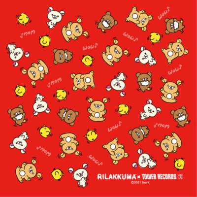 「Rilakkuma × TOWER RECORDSキャンペーン2021」リラックマ座布団(赤)