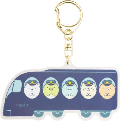 「すみっコぐらし×南海電車」アクリルキーホルダー 各660円(税込)サイド