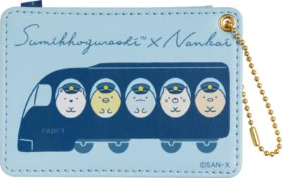 「すみっコぐらし×南海電車」クリアホルダーセット550円(税込)パスケース1,100円(税込)