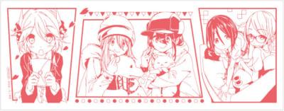「アニメイトブックフェア2021」てぬぐい:あfろ先生作品