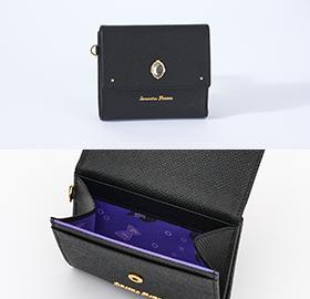 「ディズニー ツイステッドワンダーランド×サマンサタバサ」オクタヴィネル寮Mini Folded Wallet