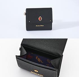 「ディズニー ツイステッドワンダーランド×サマンサタバサ」スカラビア寮Mini Folded Wallet