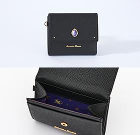 「ディズニー ツイステッドワンダーランド×サマンサタバサ」ポムフィオーレ寮Mini Folded Wallet