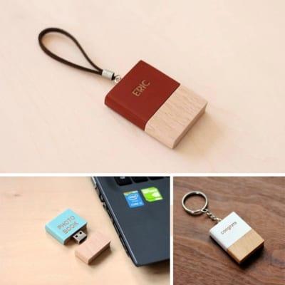 本型木製USBメモリー