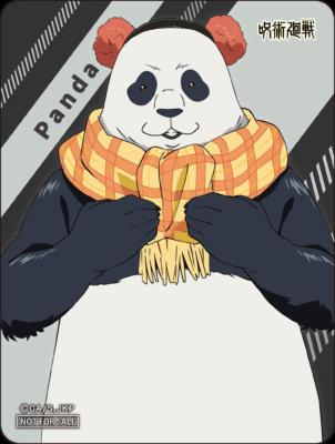 「呪術廻戦 -OIOI出張所-」マルイノアニメONLINE購入特典 ステッカー:パンダ
