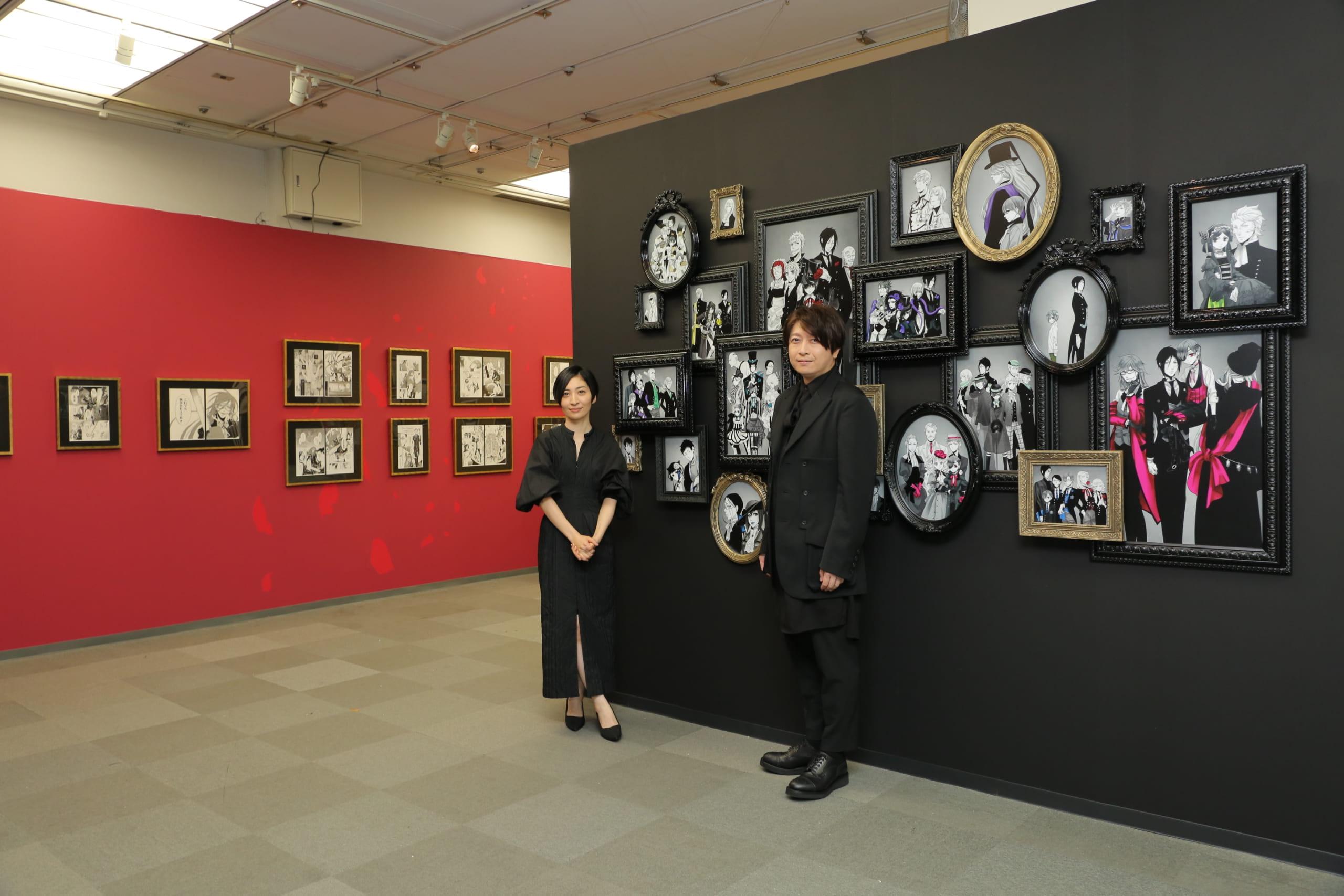 小野大輔さん&坂本真綾さんが「黒執事展」に来場!小野さん「とても幸せな気持ちです。」