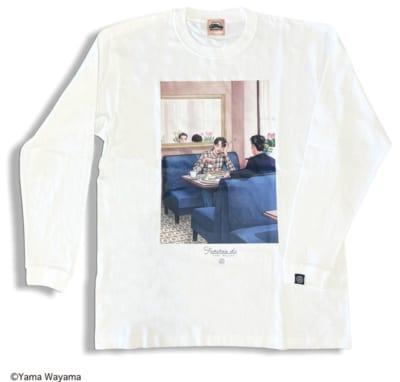 〈和山やま 描き下ろし商品〉「ファミレス行こ。」ロングスリーブTシャツ