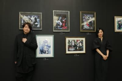 「黒執事展-Rich Black-」グッズコーナーの小野大輔さんと坂本真綾さん