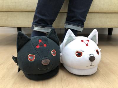 「呪術廻戦」玉犬ルームシューズ