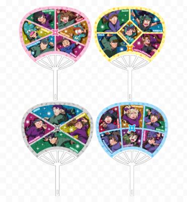 「忍たま乱太郎×ジョイポリス忍術学園音楽祭の段」カーニバルゲーム 中当たり:ミニうちわ(全4種)