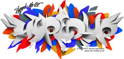 """『ヒプノシスマイク-Division Rap Battle- 3DCG LIVE """"HYPED-UP 01""""』ロゴ"""