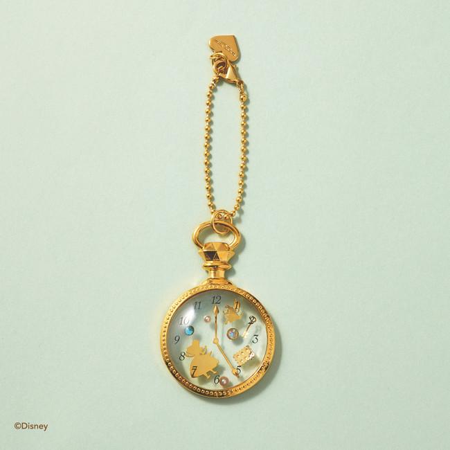 「サマンサタバサプチチョイス×不思議の国のアリス」懐中時計バッグチャーム