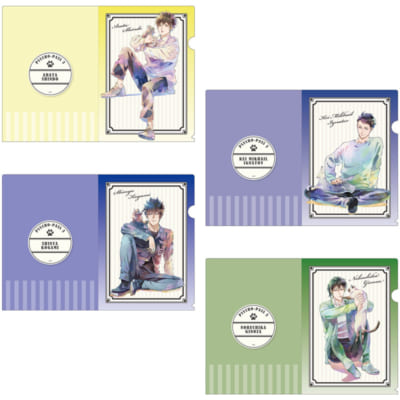 「PSYCHO-PASS 3×THEキャラCAFÉ」A4クリアファイルセット