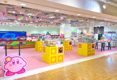 「星のカービィ POP☆UPショップ」ピンクなショップイメージ