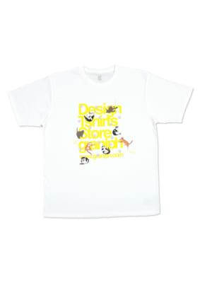 いくえみ綾先生×「Design Tshirts Store graniph(グラニフ)」Tシャツ「猫とタテロゴ」表面