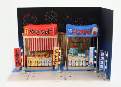 ぬいぐるみ用の撮影スタジオ「ぬいの撮り箱」撮影セット:お祭りセット