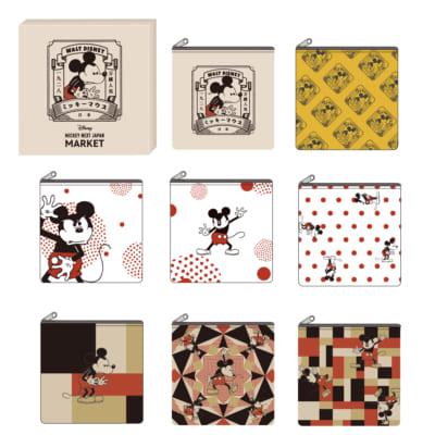 「MICKEY NEXT JAPAN MARKET」ブラインドポーチ(ポリエステル/15×15cm) 770円