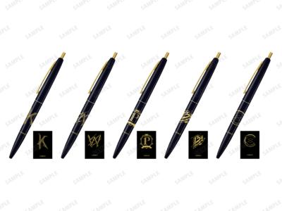 「『ブラックスター -Theater Starless-』2nd Anniversary Ani-Art フェア in アニメイト」先行販売グッズ、クリックゴールド ボールペン(全5種) 価格:各495円(税込)