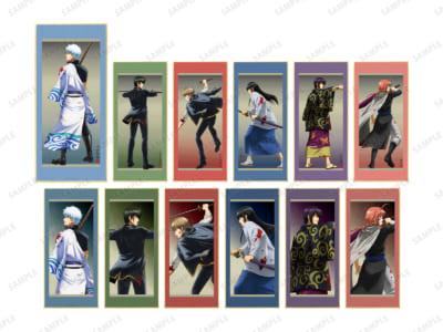「『銀魂』 POP UP SHOP in AMNIBUS STORE/MAGNET by SHIBUYA109」戦う背中ver. トレーディングスタンド付き色紙