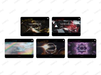 「『ブラックスター -Theater Starless-』2nd Anniversary Ani-Art フェア in アニメイト」先行販売グッズ、1ポケットパスケース(全5種) 価格:各1,980円(税込)