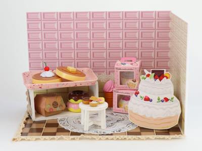 ぬいぐるみ用の撮影スタジオ「ぬいの撮り箱」撮影セット:お菓子の部屋