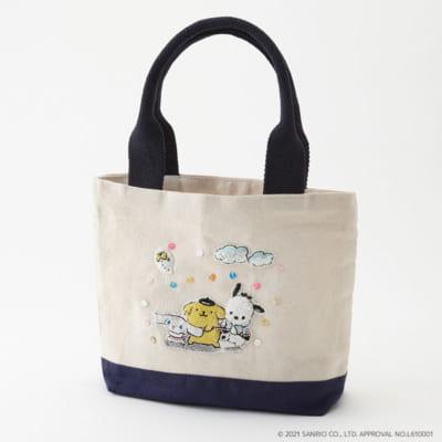 「Tカード(サンリオキャラクターズ2021ver.)」刺繍ランチミニトート