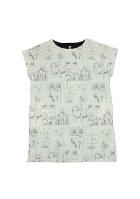 いくえみ綾先生×「Design Tshirts Store graniph(グラニフ)」半袖ワンピース「I LOVE HER」表面