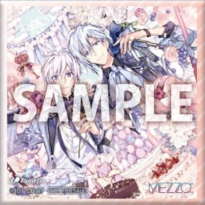 "「MEZZO""×TOWER RECORDS」キャンペーン 特典:正方形缶バッジ(40mm)"