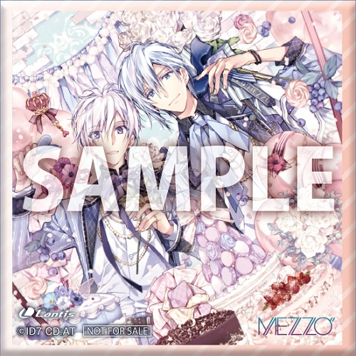 "「MEZZO""×TOWER RECORDS」キャンペーン特典:正方形缶バッジ(40mm)"