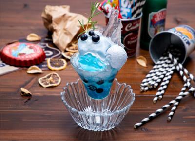 「TIGER & BUNNY Cafe PLAYBACK!!」 【ブルーローズ】 シェービングアイスパフェ