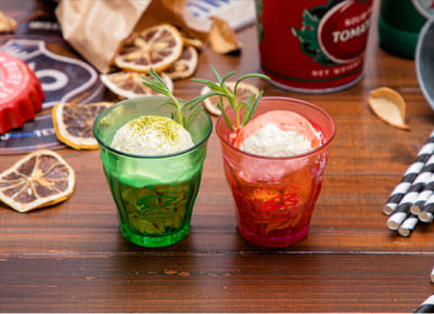 「TIGER & BUNNY Cafe PLAYBACK!!」 ミニグラスアイス